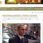 Ministar Glamočić u poseti Austriji