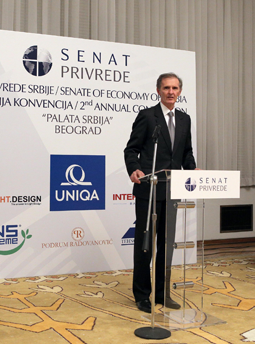 Predsednik Senata privrede Srbije g-din Danilo Marić otvara 2. Konvenciju